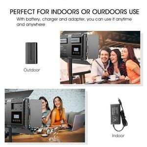 Image 2 - Capsaver 2 en 1 Kit LED lumière vidéo Studio Photo LED panneau éclairage photographique avec trépied sac batterie 600 LED 5500K CRI 95