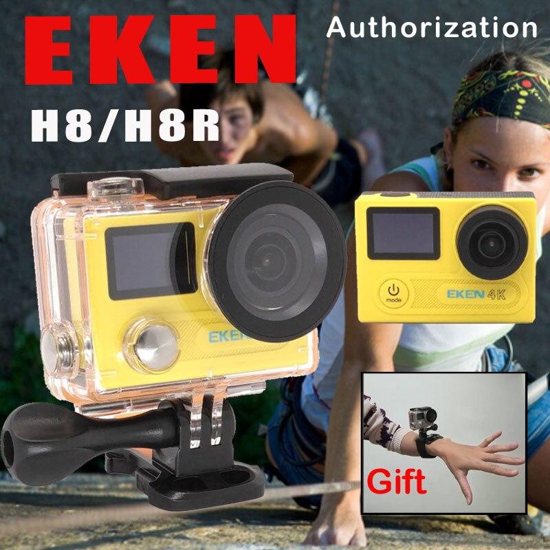 EKEN H8/h8r Ultra HD 4 К WI-FI действие Камера 1080 P/60fps 720 P/120fps мини cam 30 м Водонепроницаемый шлем спорта DVR Go Extreme Pro Cam