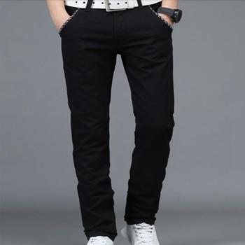 Весна штаны для отдыха мужские штаны 2018 новые черные прямые мужские штаны