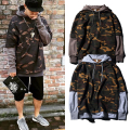 Europe autumn men s sport long sleeve sweatshirts teenage Splice Camouflage outerwear tee Hiptop Skateboarding Hoodies men