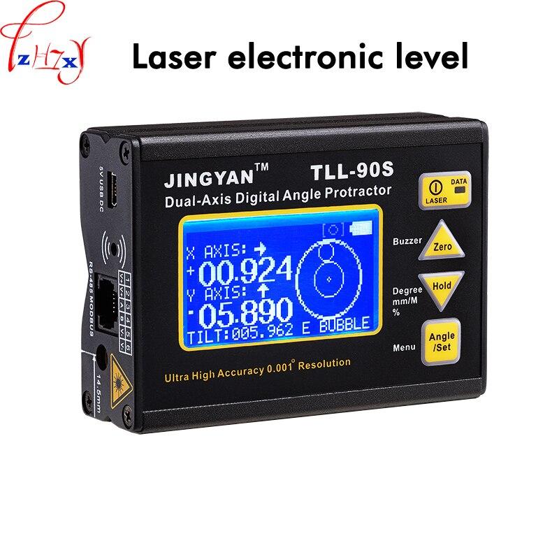 Affichage numérique double-axe inclinomètre TLL-90S mini professionnel de haute précision laser indicateur de niveau électronique 1 pc 37 V