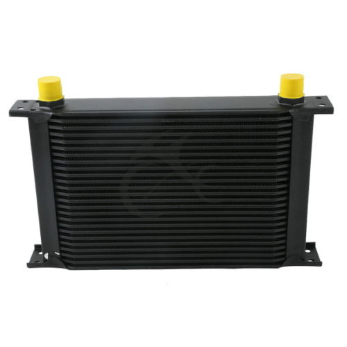 BLACK UNIVERSAL 25 ROW AN 10AN ENGINE TRANSMISSION RACING OIL COOLER BRITISH NEW