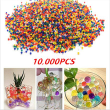 Colored orbeez soft crystal water paintball 10000pcs bag gun bullet grow water beads grow balls water