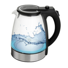 NEW Amazing Blue Led Glass Electric Kettle Automatic Electric High Borosilicate Glass Kettle Kitchen Appliances