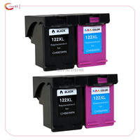 4PCS Compatible For HP 122 Ink Cartridge For HP122 XL For HP Deskjet 1000 1050 2000