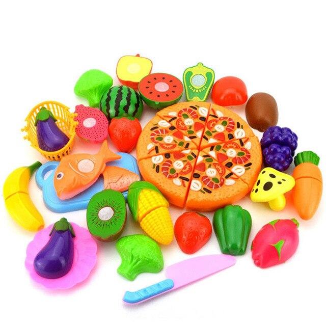 Taglio di Frutta Verdura Pizza Giochi di imitazione Del Capretto Dei ...