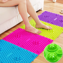 29x39cm Foot Massage Pad Toe Pressure Plate Explosion Pebbles Shiatsu Blanket Yoga fitness household Random color bathroom Mat(China)