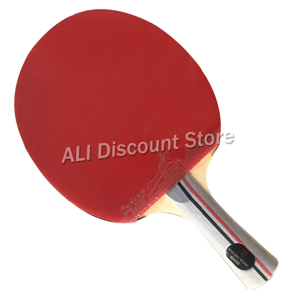 Reactor DJ200 Table Tennis Blade With 2x Corbor Rubber With Sponge for a Ping Pong Racket Long shakehand FL