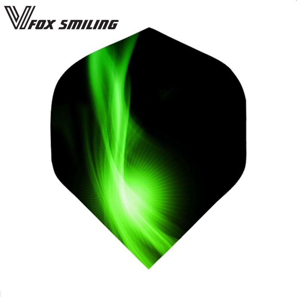 30PCS Nice Darts Flights Wing For Professional Darts Wing Tail Cool Pattern Dart Accessories Green