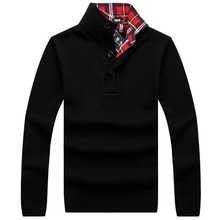 RICHARDROGER   Sweater  Men 2017 Male Brand Casual Slim Sweaters Men  Of  Solid Color Hedging Men'S Sweater 06