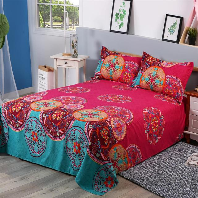 Wholesale Hot Bohemian Elephant Bed Cover Flat Sheets 3d Boho Mandala  Printing Bed Sheet With Pillow