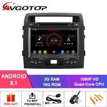 AVGOTOP Android 9 WINCE Bluetooth GPS Auto Radio Dvd-speler Voor TOYOTA LANDCRUISER LC200 2G 16G MP3 MP4 voertuig Multimedia(China)