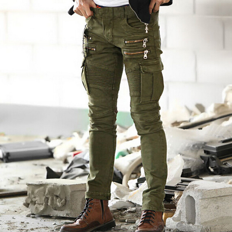 Skinny jeans with cargo pockets