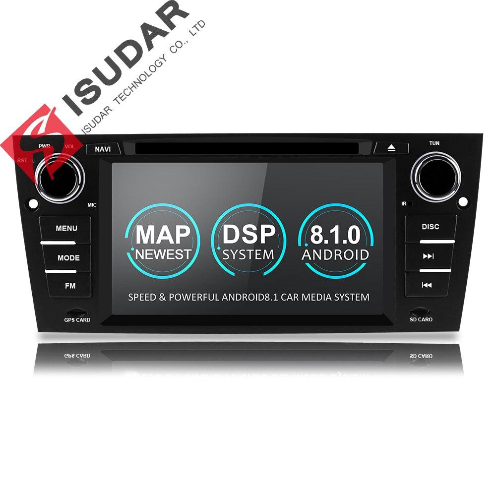 Isudar 1 Din Voiture lecteur multimédia GPS Android 8.1 Pour BMW/320/328/3 Série E90/E91 /E92/E93 lecteur dvd Radio FM Quad Core 2 + 16 GB