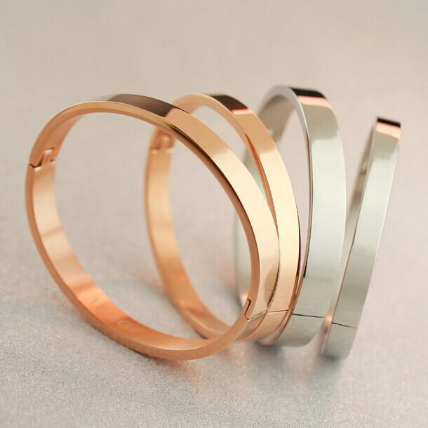18k Rose Gold Bracelet Men Face Women Korean Fashion Jewelry