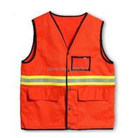 Светоотражающий жилет/много карманов светоотражающие безопасности одежда/санитарии Строительство/трафик санитарии Рабочая одежда