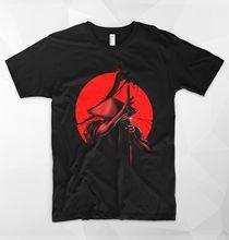 Samurai Slice T Shirt Top Japan Warrior Japanese Sword Katana Coolie Rice Hat Print Casual T-Shirt Men Brand Tee