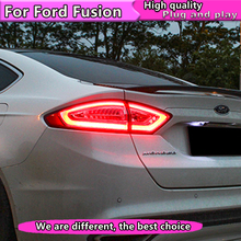 Car Styling Tail Lamp for Ford Mondeo Lights 2013-2016 For LED Rear Light DRL+Brake+Park+Signal Stop light