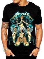 Babylon' Men's Rave T Shirt Glow In The Dark EDM Clothing Black Light Reactive Tee Cheap Sale 100 % Cotton T Shirts For Boys