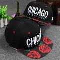 2015 Cayler Сыновья Вышивка Письма Чикаго Роза Сад Края Бейсболка Хип-Хоп Шапки Случайные Шляпы Snapback Для Мужчин женщины
