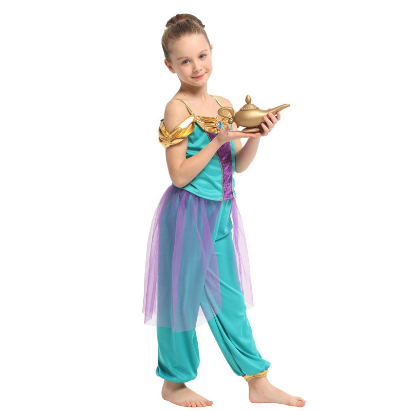 HUIHONSHE Hot Selling Girls Princess Cosplay Kids Children Halloween Arabian Costume Carnival Purim Stage play party dress