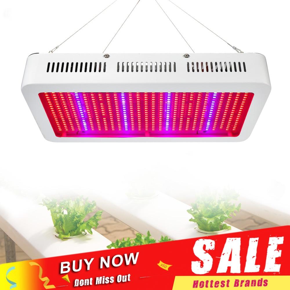 400 LEDs crece la luz de espectro completo 400W 600W planta de interior Phytolamp para plantas Vegs hidropónico crecimiento flor invernadero