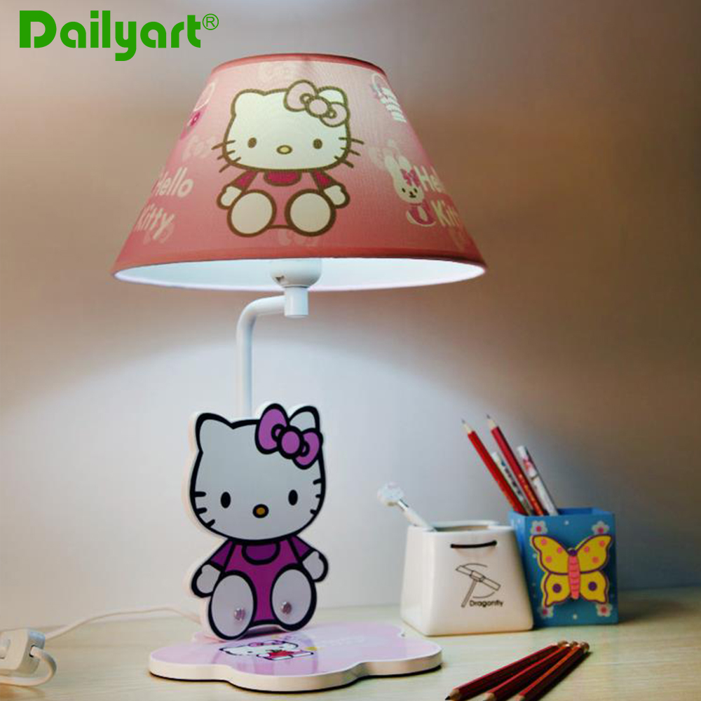 Hello Kitty Pink Children Table Lamp For BedroomStudy Room - Hello kitty lamps for bedroom