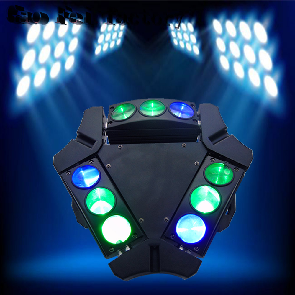 1pcs/lot Product Mini LED Stage Light 9 Eyes 10W RGBW Spider Infinite1pcs/lot Product Mini LED Stage Light 9 Eyes 10W RGBW Spider Infinite