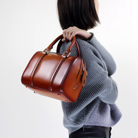 Pillow Fashion Handbag Genuine Leather 2019 Women Top Handle Bag Elegant Messenger Shoulder Sling Bag Office Lady Hand Bag