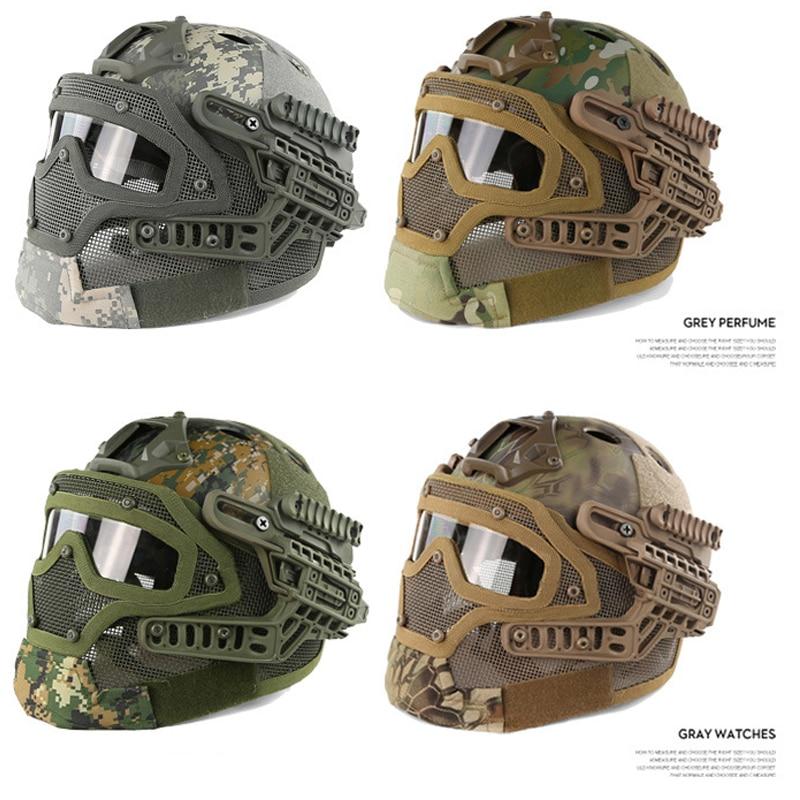 Helme Commando Kampf Paintball Gun Tatico Schutz Helmet10color New Military Feld Taktische Getriebe Helm/cs Sports Maske Schutzhelm