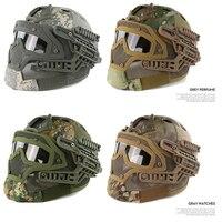 New Military Feld Taktische Getriebe Helm/cs Sport Maske + helme Commando Kampf Paintball Air Gun Tatico Schutz Helmet10color
