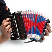 Desenvolvimento precoce das crianças mini instrumento musical acordeão criança música brinquedo cor preta