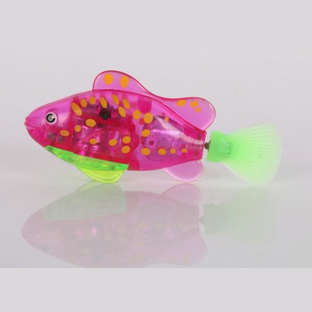New Aquarium Decoration Fishing Plastic Toy Funny Swimming Robot Fish Electronic Lighting Battery Powered SS3