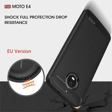 WolfRule For Phone Case Moto E4 Cover Shockproof Silicone Brushed Style Case For Moto E4 Case For Motorola Moto E4 XT1762 XT1772