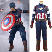 Avengers Age Of Ultron Captain America Steve Rogers Uniform Outfit Cosplay Costume