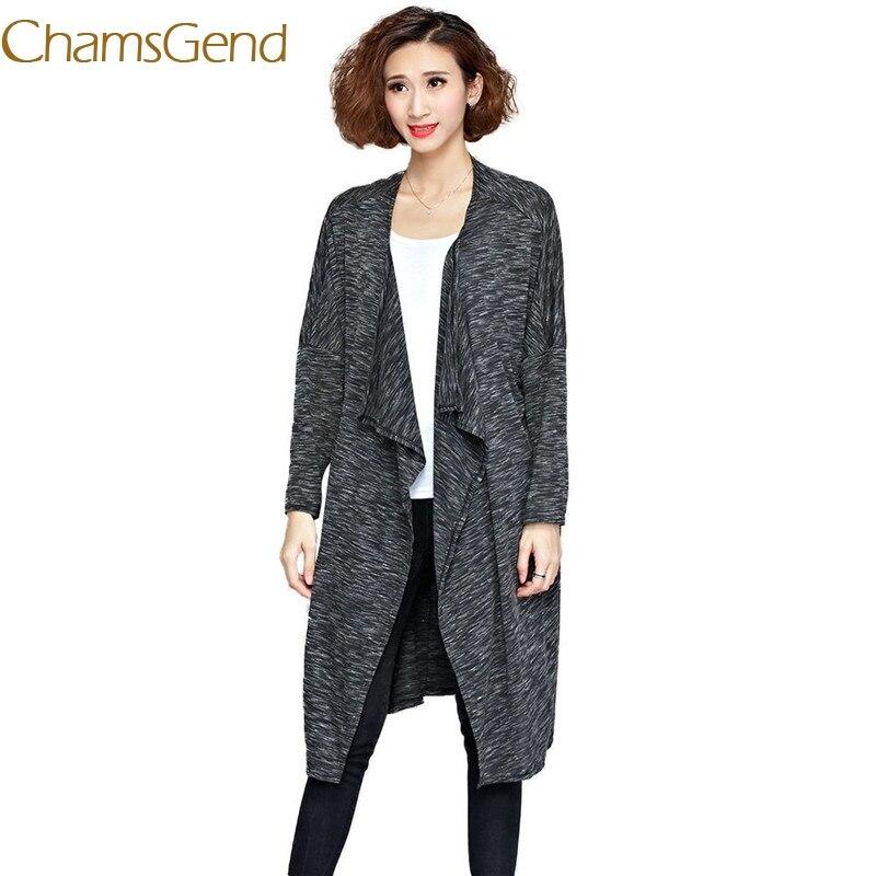 Chamsgend 2017 New Autumn Winter Knitted Crochet Women Sweater Long Twisted cardigan dress female sweaters cardigan women 77#