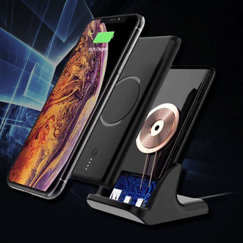 Wireless Charger PowerBank 10000mAh For iPhone XR XS Max Xiaomi Samsung