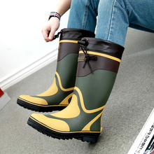 Rubber Rain Boots Men Winter Fishing Boots High Water Shoes Pvc Gummistiefel Rainboots Flat Anti-slip Plus Size 46 Free Shipping