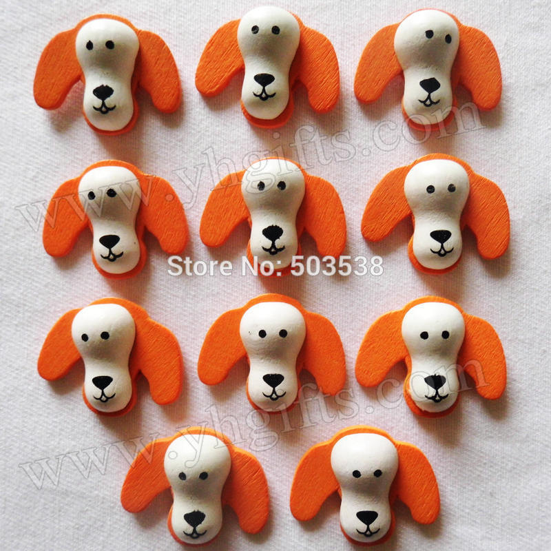 1000PCS/LOT,Wood pekingese stickers,2.2cm.Kids toys,scrapbooking kit,Early educational DIY.Kindergarten crafts.Classic toys