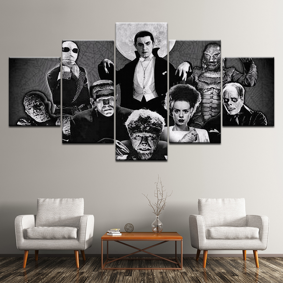 Canvas Painting New Mummy Universal Monsters 5 Pieces Wall Art