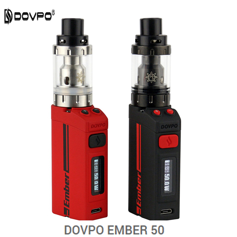 Newest Original DOVPO ember 50 kit Electronic Cigarette Box Mod Vape 50W Temperature control e Cigarette Starter Kit