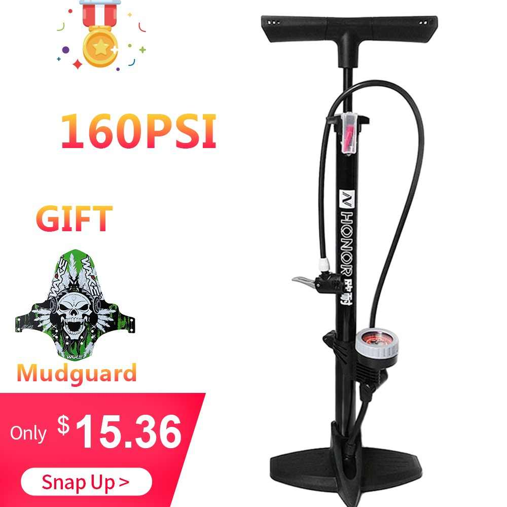 Lixada Bike Pump 160PSI MTB Road Bike Floor Pump Inflating Presta Schrader Valve Accurate Tire Inflation Foot Pump with Needle