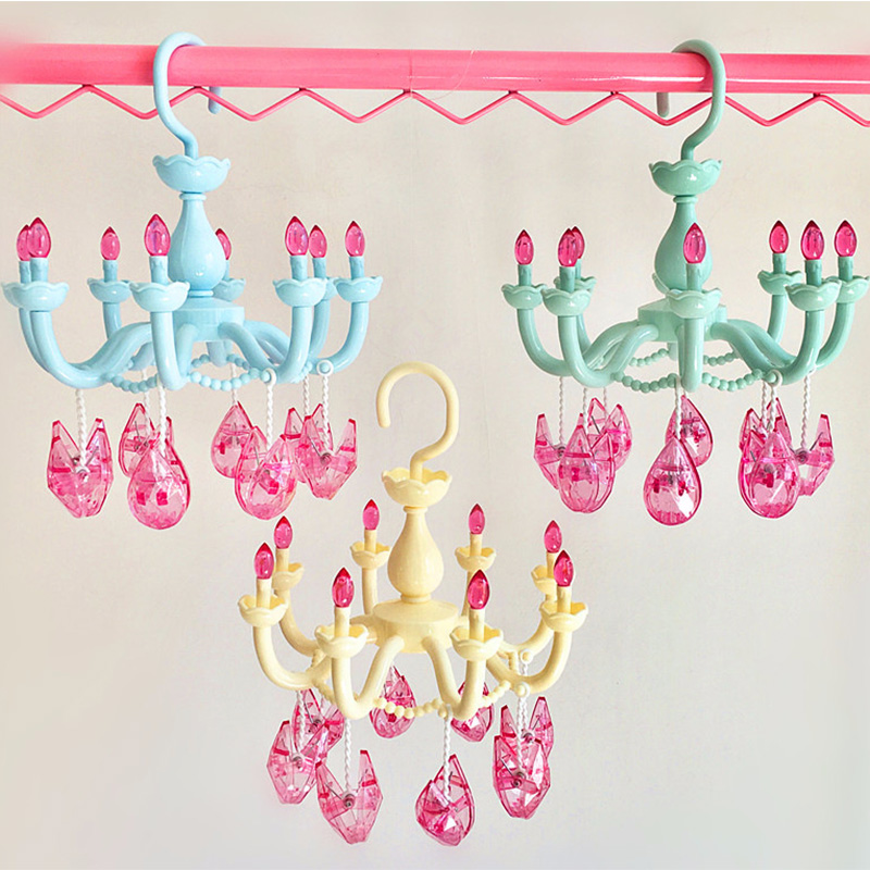 Creative Cute Chandelier Drying Rack And Multi-Function Home Bedroom Wardrobe Balcony Children Small Items Storage Drying Rack