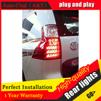 Автомобильный Стайлинг для Toyota PRADO задние лампы 2011 2013 для PRADO светодиодный задний фонарь крышка заднего фонаря drl + сигнал + тормоз + светодиод