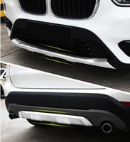 JIOYNG Front + Rear Bumper Lip Diffuser Protector Guard Skid Plate For BMW X1 F48 2016 2017 2018 BY EMS