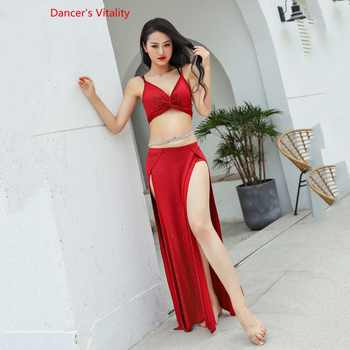 Hot Sell Shine Silver Knit Women Team 2 Piece Belly Dance Set Sexy Dancer Performance Show Clothing Red Wear - DISCOUNT ITEM  10% OFF All Category