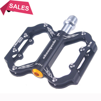 2018 Bicycle Foot Pedal Mtb Flat Ultralight 284g Cycling 9/16 BMX Mountain Bike Footrest Red Pedals Aluminum Alloy 3 Bearings