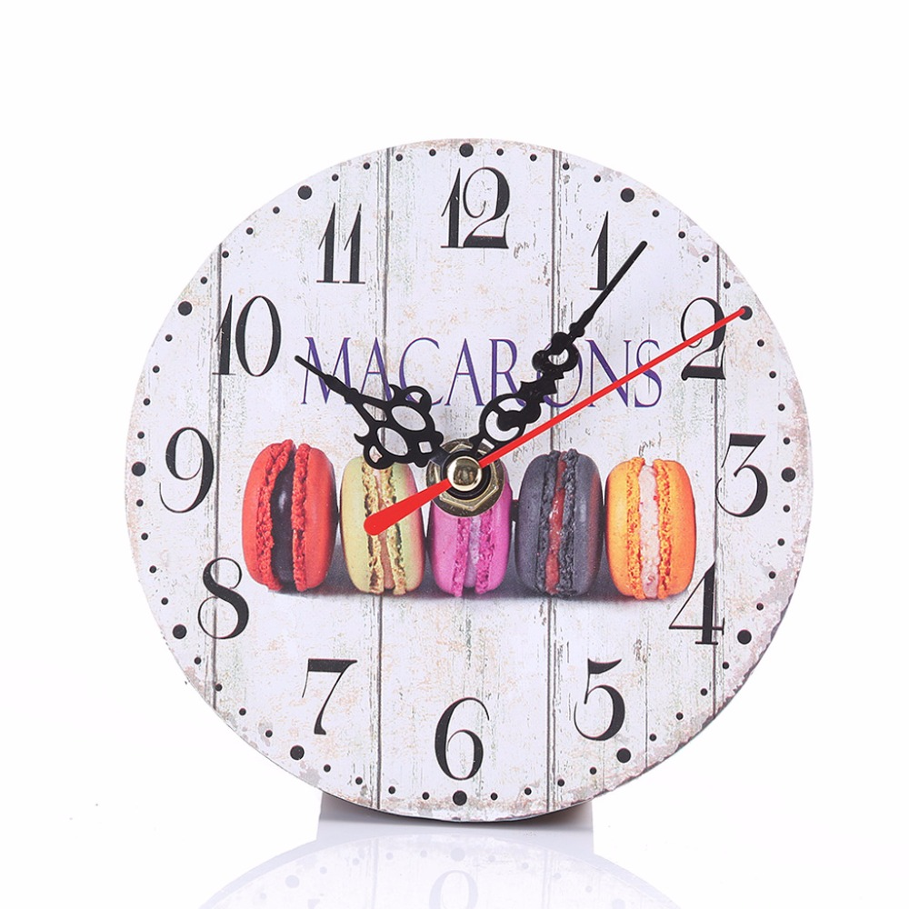 9 Type Round Artistic Vintage Rustic Wooden Wall Clock Antique ...
