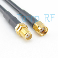 Freeshipping! 20INCH RG58 50CM RP-SMA male plug to SMA female jack RF Pigtail jumper coaxial cable Wholesale