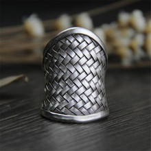 цены Drop Shipping Wholesale 925 Sterling Silver Weave Ring Fine Fashion Jewelry Net Ring Men Women Gift Silver Jewelry Finger Rings